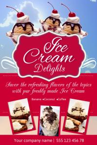 Ice Cream Poster Template