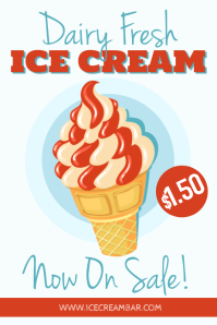 Ice Cream Promotion Poster Template