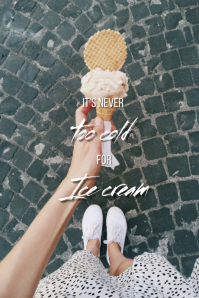 Ice cream quote Tumblr-grafik template