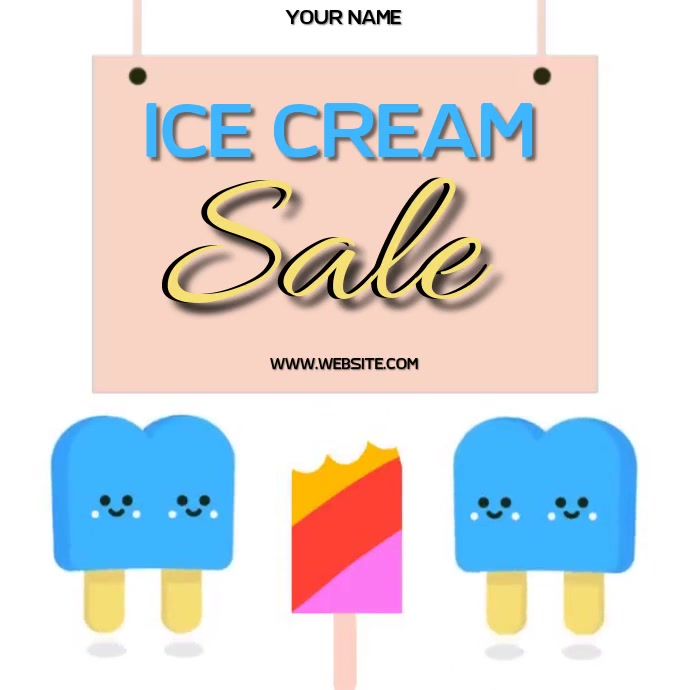 ice cream sale AD SOCIAL MEDIA TEMPLATE