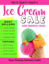 Ice Cream Sale Flyer Folder (US Letter) template