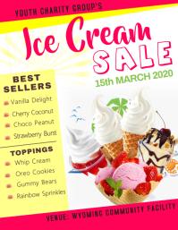 Ice Cream Sale Flyer template