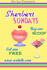Ice Cream Sale Poster โปสเตอร์ template