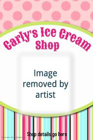 Ice Cream Shop Restaurant Poster Flyer Birthday Invitations