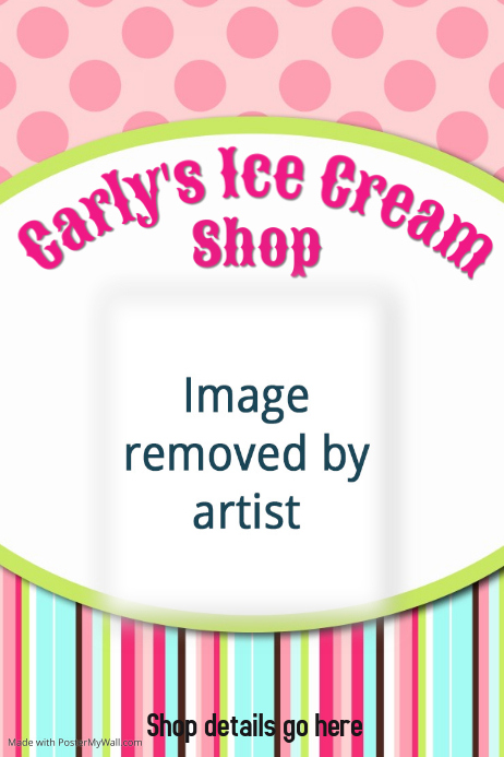 Ice Cream Shop Restaurant Poster Flyer Birthday Invitations
