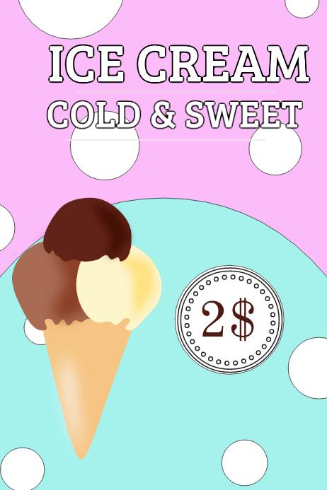 Ice Cream Sign Template