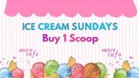 Ice Cream Slidesho Facebook-covervideo (16:9) template