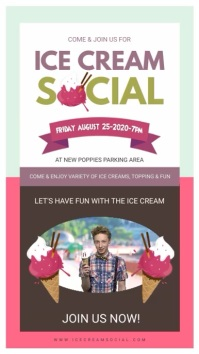 Ice Cream Social Advertisement Display Цифровой дисплей (9 : 16) template