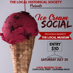 ICE CREAM SOCIAL Square (1:1) template