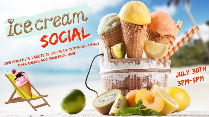 Ice Cream Social Presentation (16:9) template