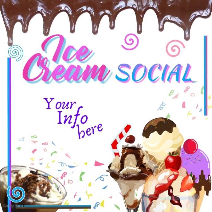 Ice Cream Social Instagram-opslag template