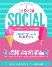 ice cream social Løbeseddel (US Letter) template