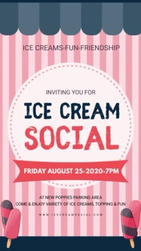 Ice Cream Social Dynamic Display Board template