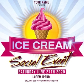 ice cream social event ad instagram
