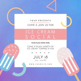 Ice Cream Social Event Instagram Video template