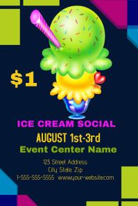 50 Customizable Design Templates For Ice Cream Social