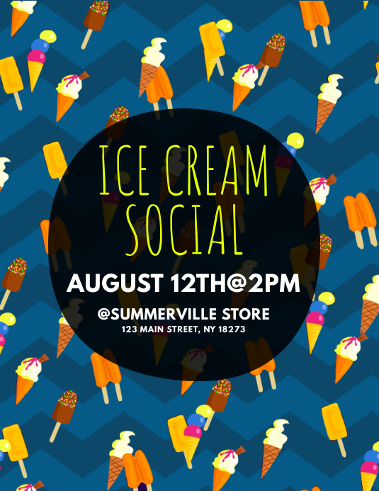 Copy of Ice Cream Social Flyer   PosterMyWall