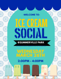 1 050 customizable design templates for ice cream social postermywall