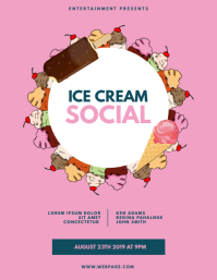 Ice Cream Social Flyer Template