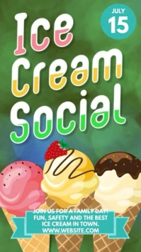 Ice cream Social instagram story advertising template