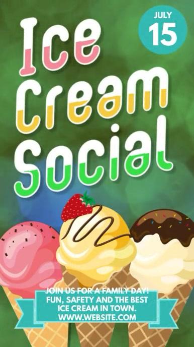 Ice cream Social instagram story advertising Instagram-verhaal template
