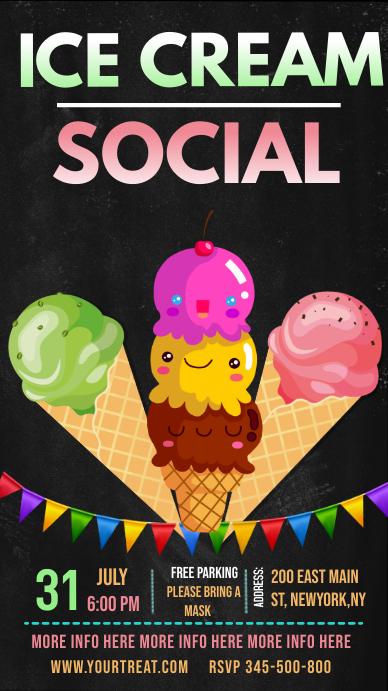 Ice cream social Instagram story template
