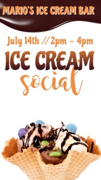 Ice Cream Social Instagram Video Template Umbukiso Wedijithali (9:16)