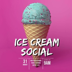 Ice Cream Social Party video template