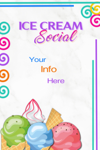 Ice Cream Social Poster โปสเตอร์ template