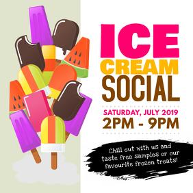 Ice Cream Social Instagram Post template