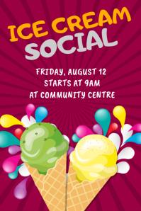 Ice Cream Social Poster