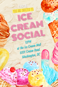 50 customizable design templates for ice cream social postermywall