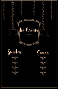 Ice Cream Special Menu Halfbladsy Breed template