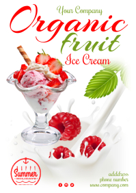 Ice Cream Special Poster A3 template