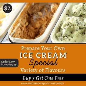 Ice Cream Special Poster Template 3