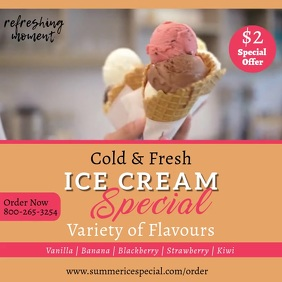 Ice Cream Special Video Template