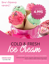 Ice cream Stand Flyer Design Template