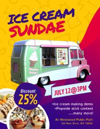 Ice Cream Sundae Flyer