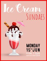 Ice cream sundaes