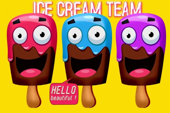 Ice Cream Team Label 2020 Etichetta template