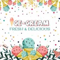 Ice cream Template Quadrato (1:1)