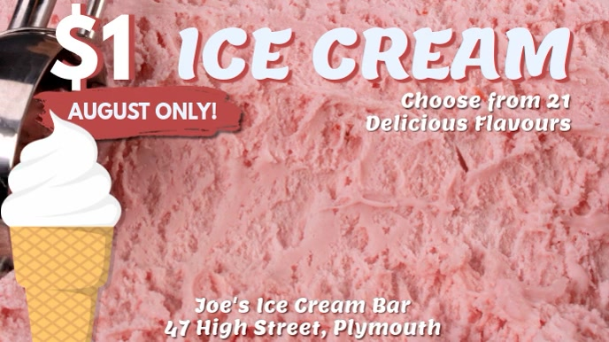 Ice Cream Video Ad Template