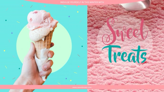 Ice cream Video Template Digital Display (16:9)