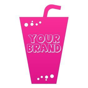 ICE DRINK CUP LOGO template