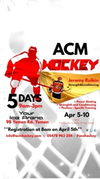 Ice Hockey Camp Instagram Template