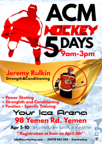Ice Hockey Camp Poster template