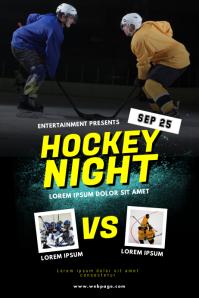 Ice Hockey Flyer Template