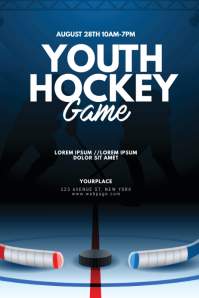 Ice Hockey Game Flyer Design template
