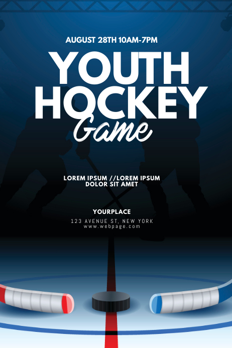 Ice Hockey Game Flyer Design template Poster