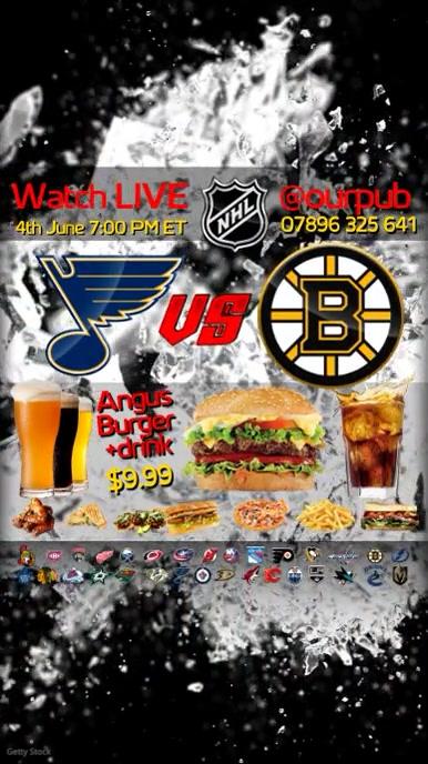 Ice Hockey Match Invitation